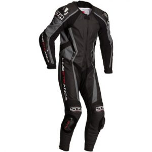 Lindstrands Hyper 1 Piece Leather Motorcycle Suit Grey