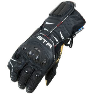 Lindstrands Oxid Motorcycle Gloves Black White