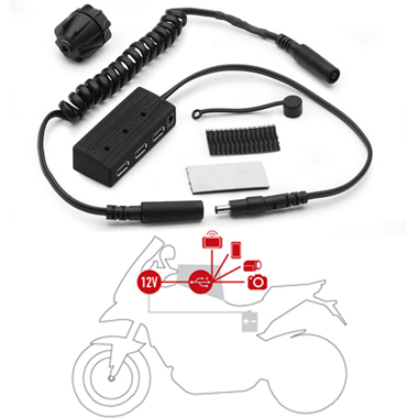 Givi S111 12 Volt Power Hub USB