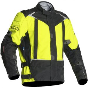 Lindstrands Qurizo Textile Motorcycle Jacket HV Yellow