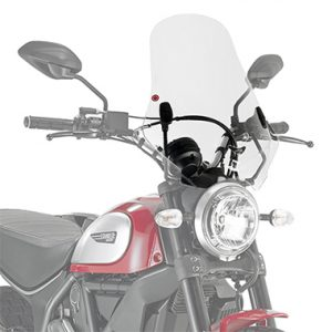 Givi 7407A A7407A Motorcycle Screen Ducati Scrambler 400 16 on Clear