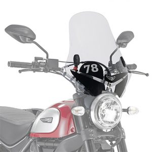 Givi 7407AS A7407A Motorcycle Screen Ducati Scrambler 400 16 on Clear