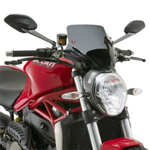 Givi A7404 Motorcycle Screen Ducati Monster 1200 14 on Smoke