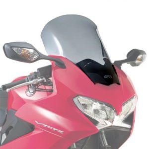 Givi D1132S Motorcycle Screen Honda VFR800 F 14 on Smoke
