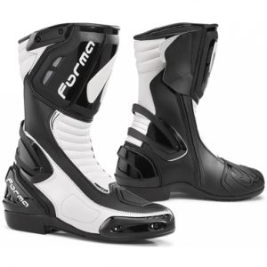 Forma Freccia Motorcycle Racing Boots Black White