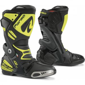 Forma Ice Pro Motorcycle Racing Boots Black Fluo