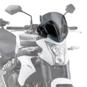 Givi A4104 Motorcycle Screen Kawasaki ER6N 2012 on Smoke