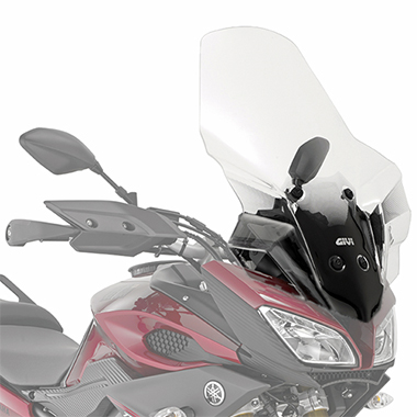 Givi 2122DT D2122KIT Motorcycle Screen Yamaha MT09 Tracer 15 on Clear