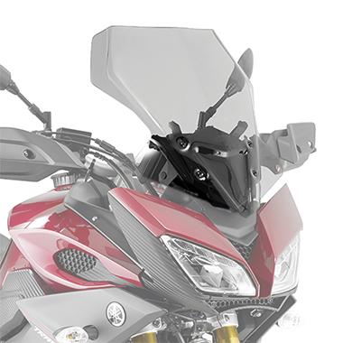 Givi D2122S Motorcycle Screen Yamaha MT09 Tracer 15 on Smoke