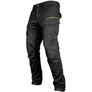 John Doe Stroker Cargo Motorcycle Jeans Short Leg Black