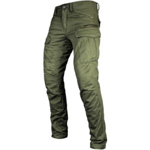 John Doe Stroker Cargo Motorcycle Jeans Short Leg Olive