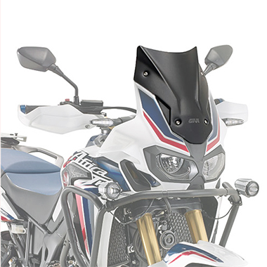 Givi D1144BO Motorcycle Screen Honda CRF1000L Africa Twin 16 on Solid Black