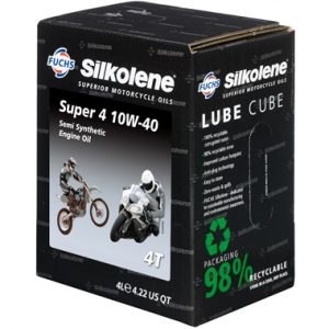 Silkolene Lube Cube Super 4 10W 40 Engine Oil 4L