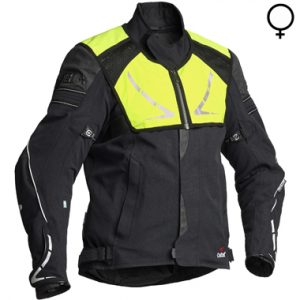 Halvarssons Walkyria Ladies Laminate Motorcycle Jacket Black