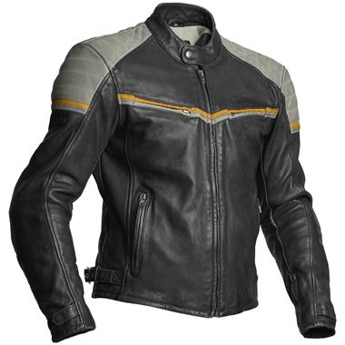 Halvarssons Eagle Leather Motorcycle Jacket Black Grey