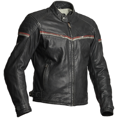 Halvarssons Eagle Leather Motorcycle Jacket Black Red