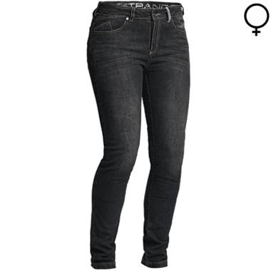 Lindstrands Mayson Lady Motorcycle Jeans Black Short Leg
