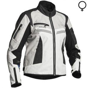 Lindstrands Zhiva Lady Textile Motorcycle Jacket Grey White