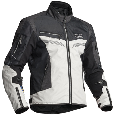 Lindstrands Zhivago Textile Motorcycle Jacket Black Grey