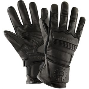 Belstaff Corgi Goatskin Motorcycle Gloves Black