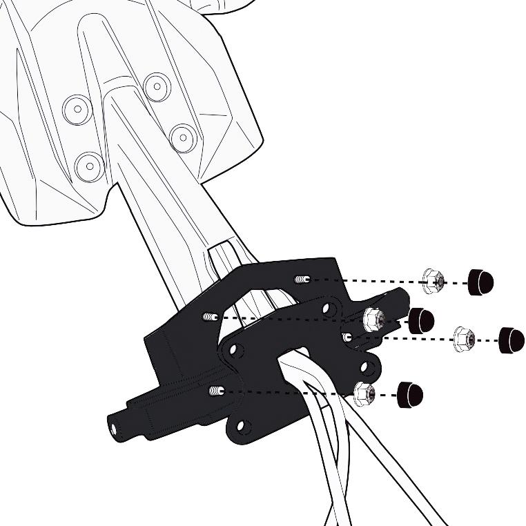 Givi 2139KIT Top Box Bridging Kit Yamaha Tracer 900 2018 on