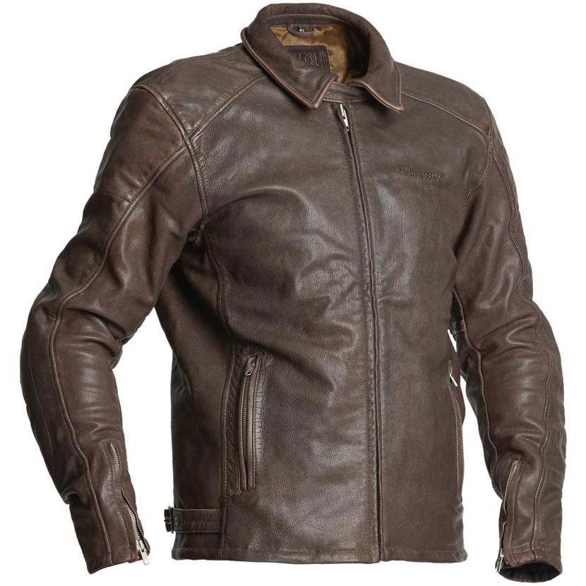 Halvarssons Trenton Leather Motorcycle Jacket Brown