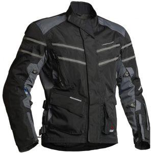 Lindstrands Luxor Laminate Motorcycle Jacket Black Grey
