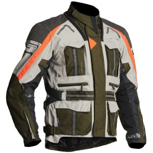 Lindstrands Oman Green White Textile Motorcycle Jacket