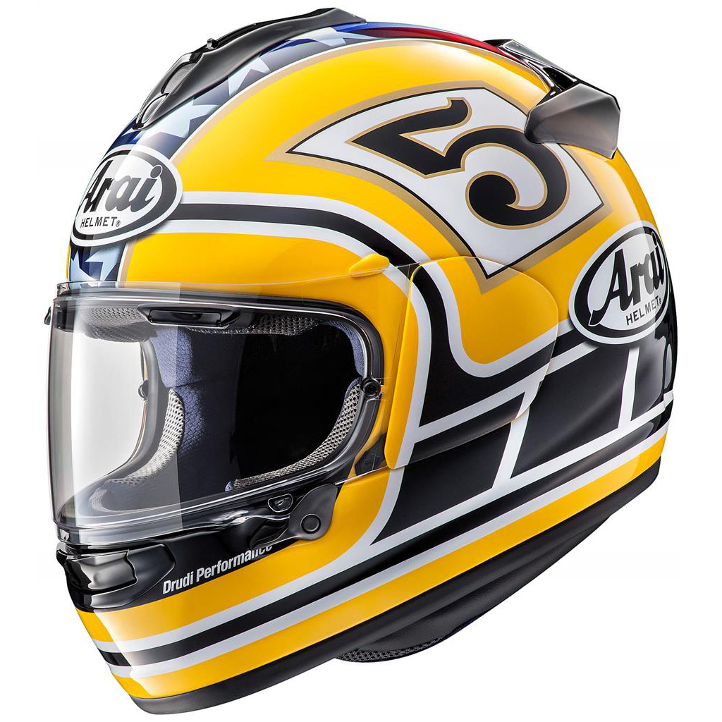 Arai Chaser X Motorcycle Helmet Edwards Legend Yellow