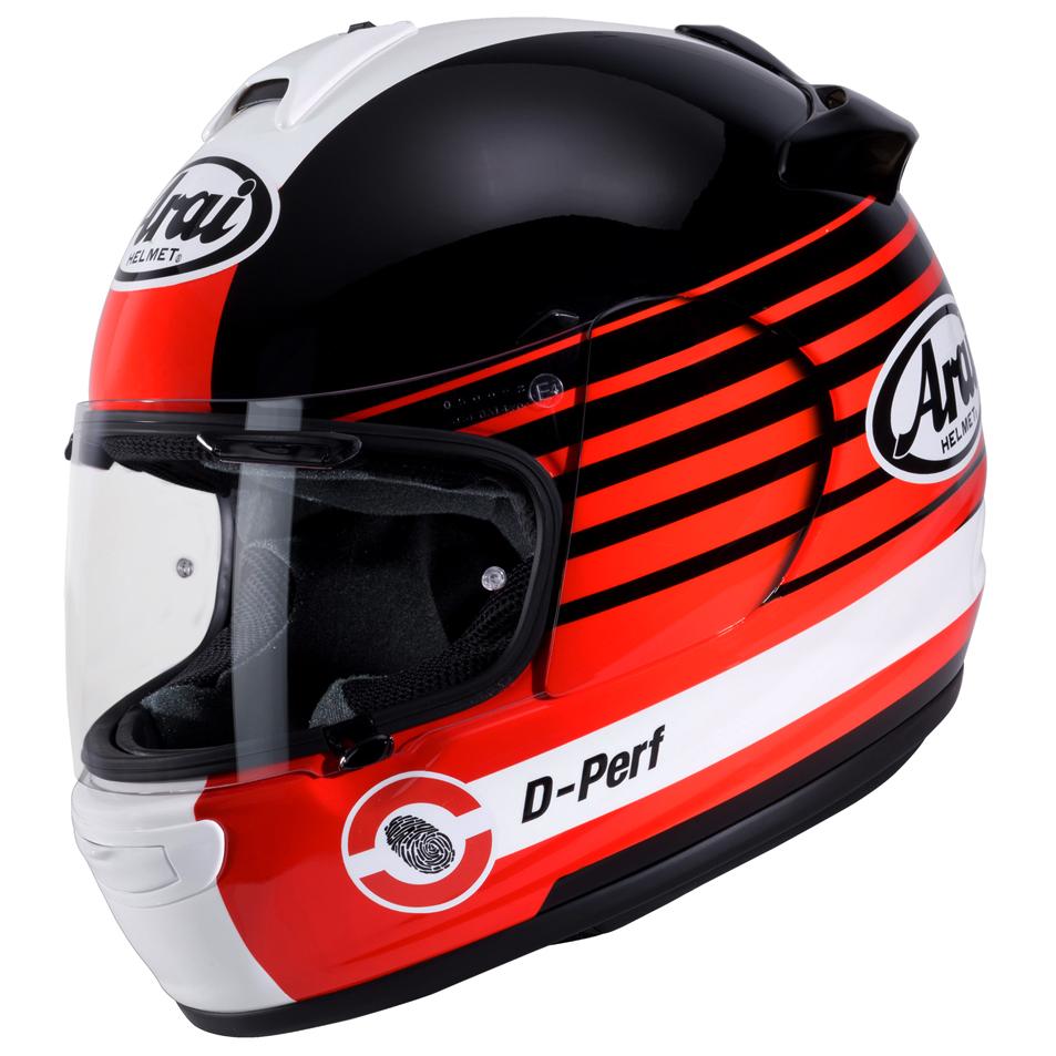 Arai Debut Motorcycle Helmet Page Red