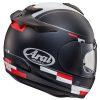 Arai Debut Motorcycle Helmet Blaze Black White back view