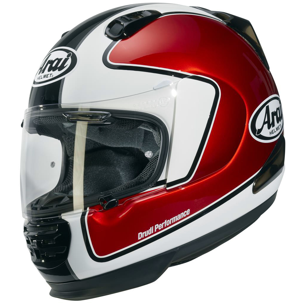 Arai Renegade V Motorcycle Helmet Outline Red