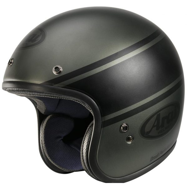 Arai Freeway Classic Open Face Motorcycle Helmet Bandage Green