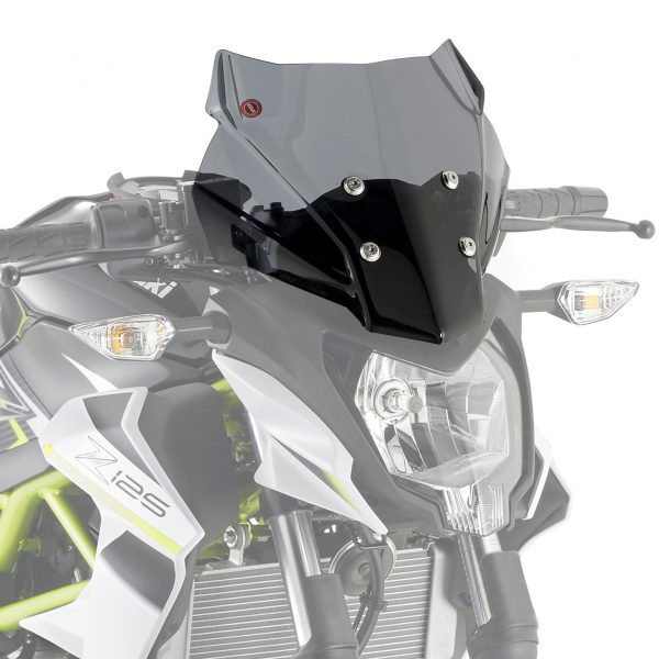 Givi 4125S Motorcycle Screen Kawasaki Z125 2019 on Smoke