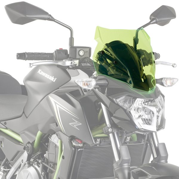 Givi A4117GR Motorcycle Screen Kawasaki Z650 2017 on Green