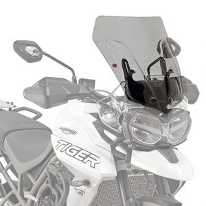 Givi D6413S Motorcycle Screen Triumph Tiger 800 2019 on Smoke