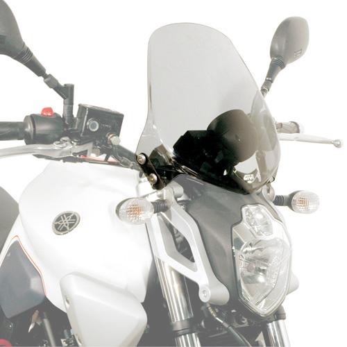 Givi 245A Motorcycle Screen Yamaha MT03 660 2006 on Smoke