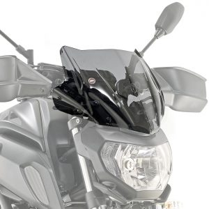 Givi A2140 Motorcycle Screen Yamaha MT07 2018 on Smoke