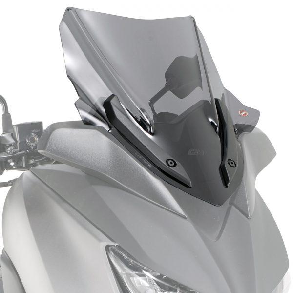 Givi D2136S Motorcycle Screen Yamaha X Max 400 2018 on Smoke