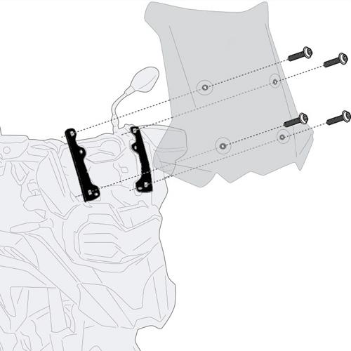 Givi D5129KIT Motorcycle Screen Fitting Kit