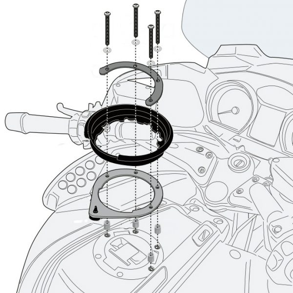 Givi BF47 Tanklock Fitting BMW R1200RT 2005 to 2013