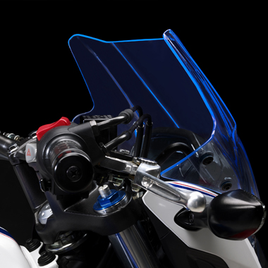 Givi 1176ABL Blue Motorcycle Screen Honda CB500F 2019 on