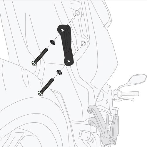 Givi 1173KIT Pannier Holder Bridging Kit Honda