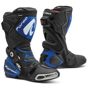 Forma Ice Pro Motorcycle Racing Boots Black Blue
