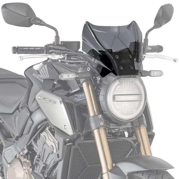 Givi 1173S Smoke Motorcycle Screen Honda CB650R 2019 on