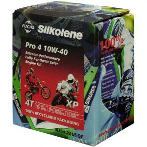 Silkolene Lube Cube Pro 4 10W 40 XP Motorcycle Racing Engine Oil 4L