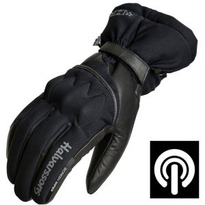 Halvarssons Splitz Motorcycle Gloves Black