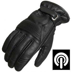 Lindstrands Lauder Leather Motorcycle Gloves Black