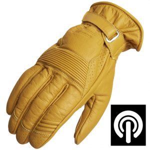 Lindstrands Lauder Leather Motorcycle Gloves Tan