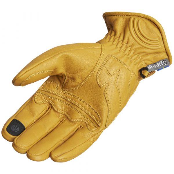 Lindstrands Lauder Leather Motorcycle Gloves Tan